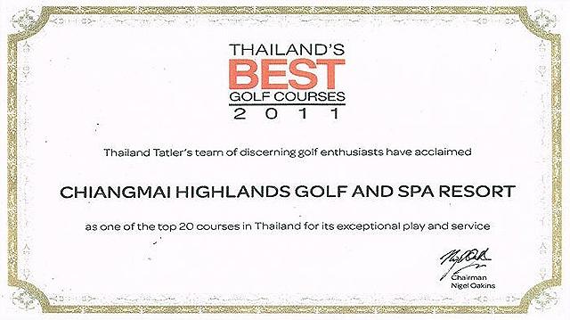 하이랜드 골프 & 스파 리조트 Awards2011 (Best Golf Courses)